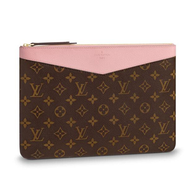 Louis Vuitton M62942 Daily Pouch Monogram Canvas Rose Poudre