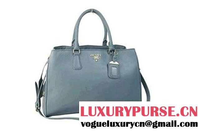 2012 New Prada Original Leather Tote Bag BR4743 Grey