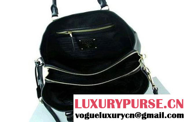 2012 New Prada Deerskin Tote Bag BR4743 Black