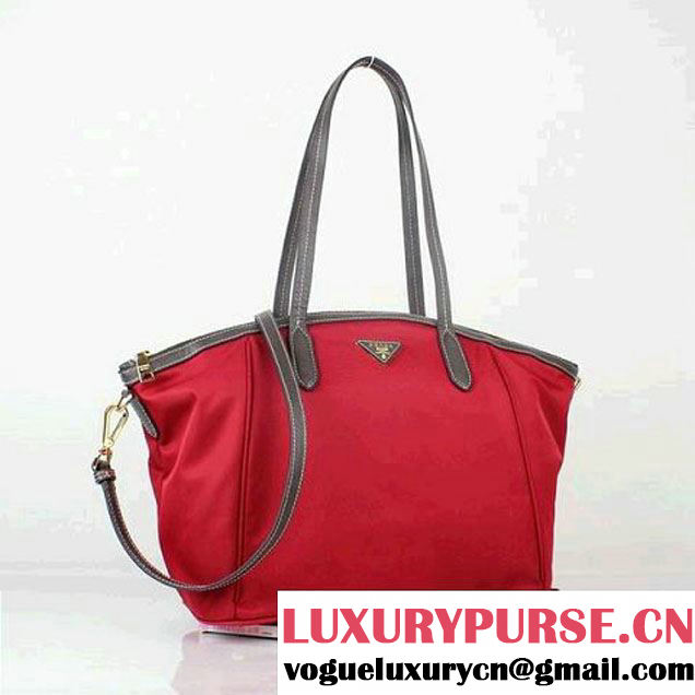 Prada Canvas Shoulder Bag BR4664 Red