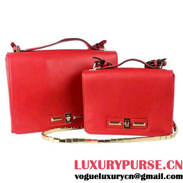 Valentino Garavani Flap Shoulder Bag 30cm V0082 Red - $239.00