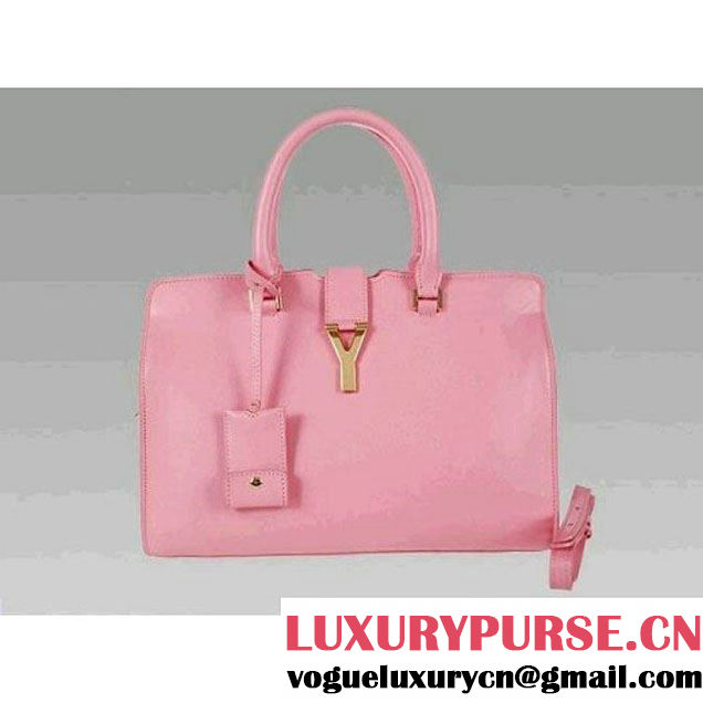 Luxury Yves Saint Laurent Pink Medium Leather Tote Bag 2118 (2118Q ) (2118Q )