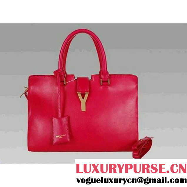 Luxury Yves Saint Laurent Rose Medium Leather Tote Bag 2118 (2118B ) (2118B )