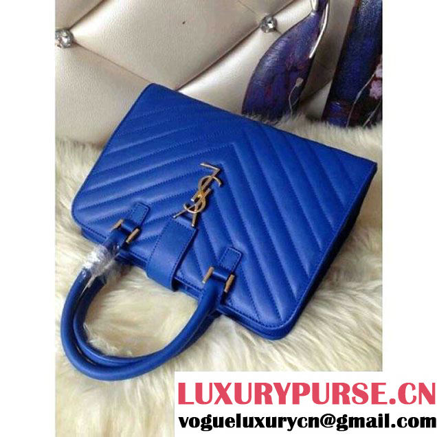Saint Laurent blue Monogramme Cabas Matelasse Small Bag - Fall 2014 (ysl2574 ) (ysl2574 )