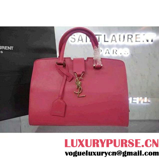 Saint Laurent Small Monogram Cabas Bag In Pink Leather (WMJ-061017 )