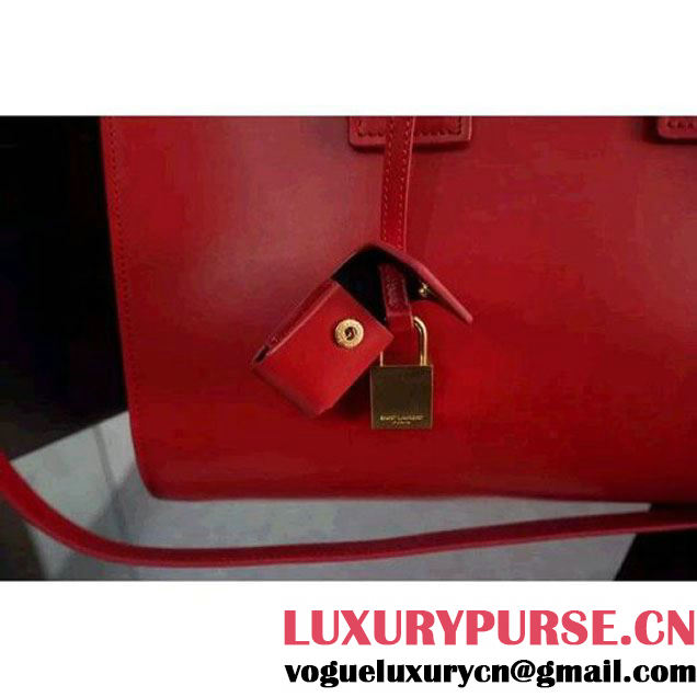 Saint Laurent Classic Small Sac De Jour Bag In Red Leather (WMJ-061007 )