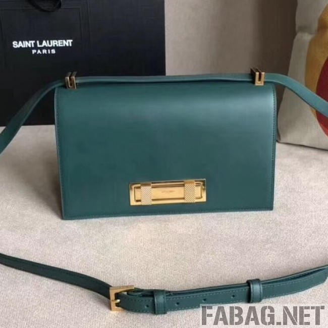 6abf8b258ea Saint Laurent Domino Medium in Smooth Leather 5387910 Green 2018 (A-8111308  )