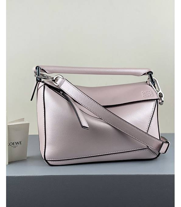 Loewe Fluorescent Pink Original Calfskin Leather Small Puzzle Bag