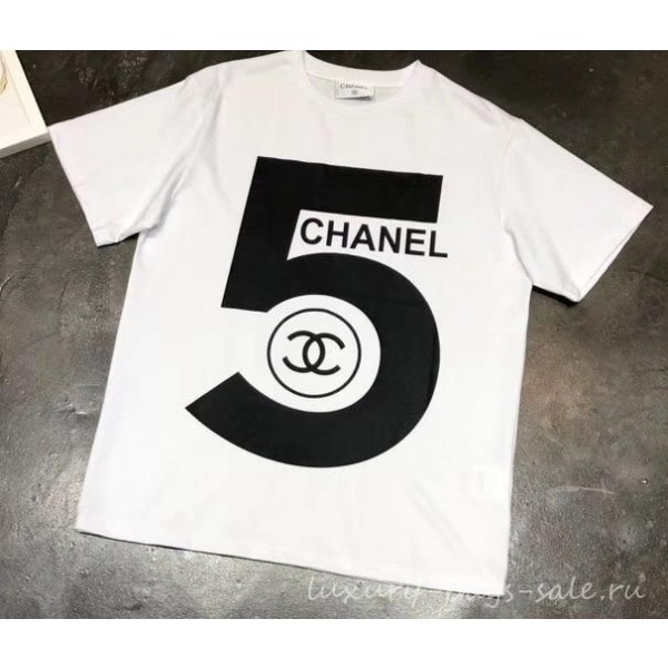 Chanel Logo 5 T-shirt White 2019