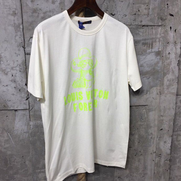 Louis Vuitton Vivienne Forever Limited Edition Street Style T-Shirt Mens Spring Summer 2018 Collection White Neon Yellow