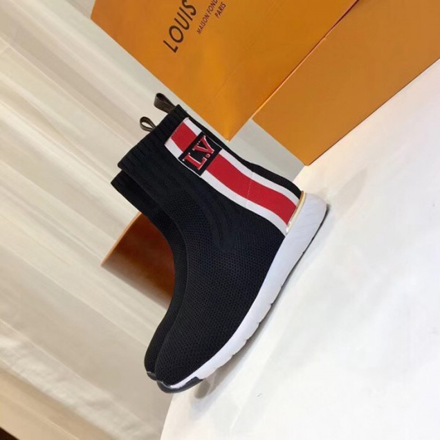 Louis Vuitton Aftergame Sneakers Boots Bold Stripe And LV Initials 1A4GKV Noir 2018