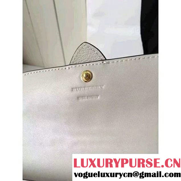 Burberry Textured Leather Continental Wallet with Buckle 40224271 Off-White 2016 (2A016-6082632 )