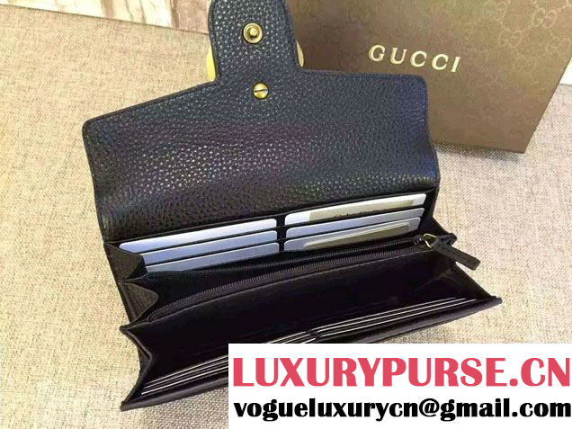 Gucci GG Marmont Continental Wallet 400586 Black 2016
