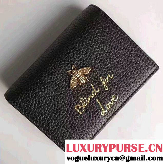 Gucci Animalier Bee And Blind For Love Wallet Black