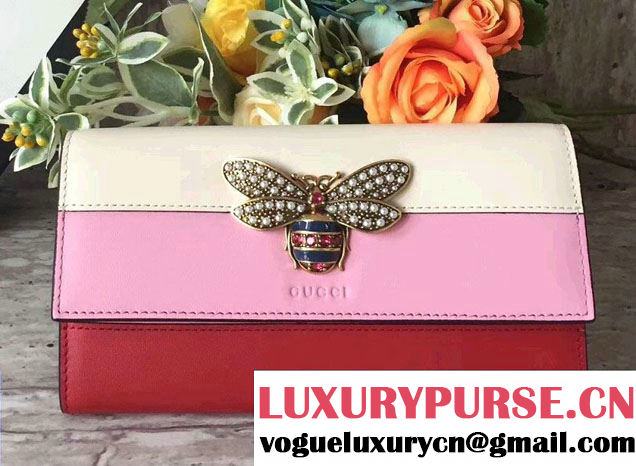 Gucci Queen Margaret Leather Continental Wallet 476064 2017