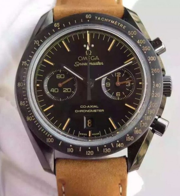 Omega Speedmaster Moonwatch PVD Chrono Vintage Black Asso/Rubber Strap A9300